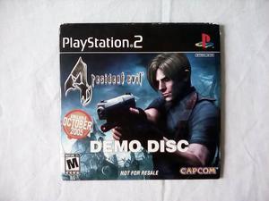 Demo Disc Resident Evil 4 Ps2 Nunca A La Venta De Colección
