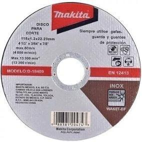 Disco Para Corte Metal 4-1/2'x3/32x7/8' Makita D18306
