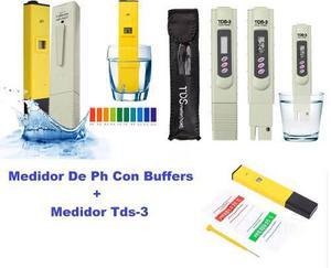 Envió Gratis Combo2 Medidor De Ph Con Buffer + Medidor