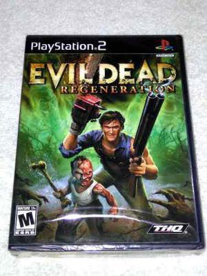 Evil Dead Regeneration Ps2 Playstation 2 Nuevo Y Sellado