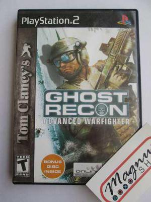 Ghost Recon Advanced Warfighter Playstation 2 Ps2 2 Discos