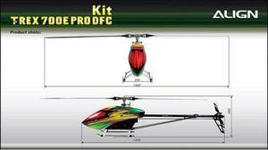 Helicoptero Rc Align Trex 700e Equipado Listo Para Volar