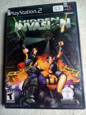 Hidden Invasion Playstation 2 Ps2 Juego Nuevo De Fabrica