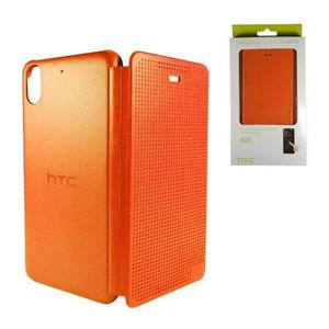 Htc Desire 626 626s Funda Flip Dot View Naranja Original