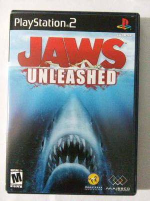 Jaws Unleashed Ps2 Playstation 2 Tiburon
