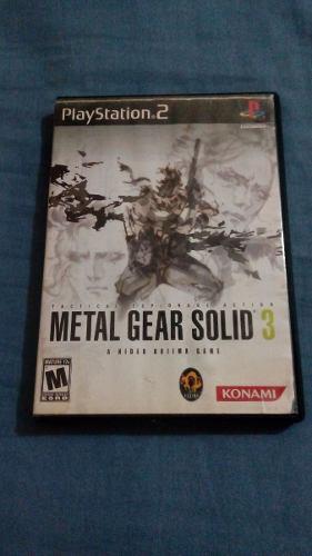 Juego Metal Gear Solid 3 Para Sony Playstation 2