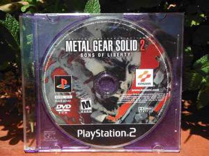 Metal Gear Solid 2 - Sons Of Liberty - Para Ps2 (solo Disco)
