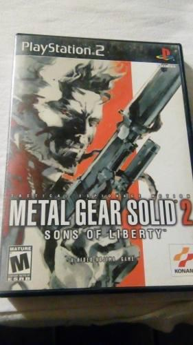 Metal Gear Solid 2 Sons Of Liberty Ps2