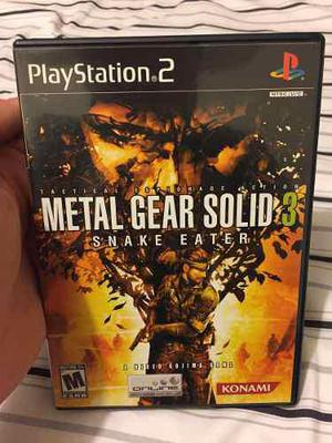 Metal Gear Solid 3 Snake Eater Para Playstation 2