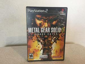 Metal Gear Solid 3 Snake Eater Para Playstation 2 Completo