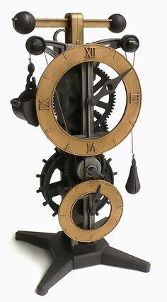 Reloj Pendulo Modelo Leonardo Da Vinci A Escala Tipo Antiguo