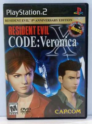Resident Evil Code Veronica Play Station 2 Ps2 Retromex Tcvg