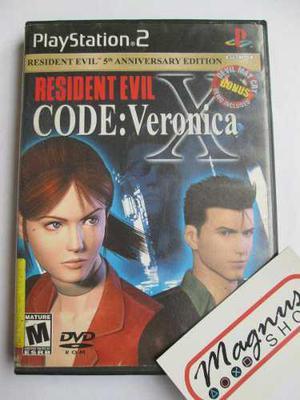 Resident Evil Code Veronica X Para Playstation 2 Ps2 Recv