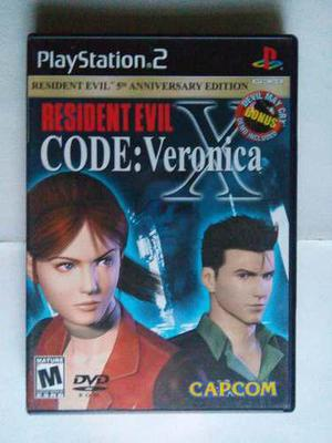 Resident Evil Code Veronica X Ps2 5 Anniversary 2 Discos