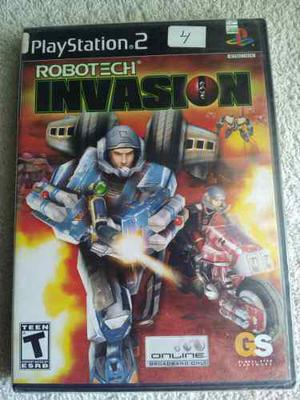 Robotech Invasion Ps2 Juego Nuevo Y Sellado De Fabrica