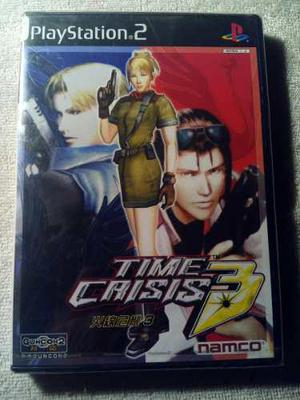 Time Crisis 3 Ps2 Japones Nuevo Y Sellado De Fabrica