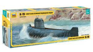 Zvezda Submarino Nuclear K19 Ruso 1/350 Armar/ Barco Revell