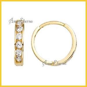 Amor Eterno - Arracadas / Aretes / Huggies Helene* Oro 10k