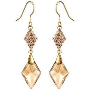 Aretes Cristal Swarovski Elements Oro Laminado 18k Regalo