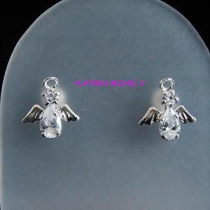 Aretes De Angel Con Zirconia En Plata Ley 0.925