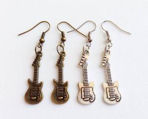 Aretes De Guitarra Dije Guitarra Música Rock Aretes De Moda