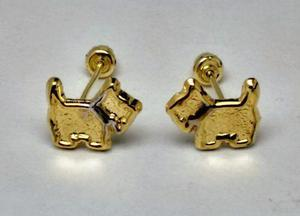 Aretes De Oro Solido Perritos 10 Kilates Modelo Jv0013