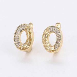Aretes Ovalados De Oro Con Zirconias Calidad Diamante