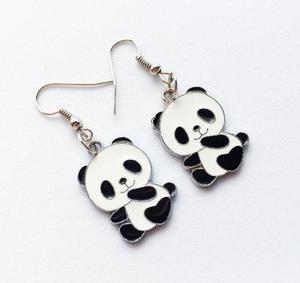 Aretes Panda Dije Panda Oso Bambú Aretes Oso Aretes De Moda