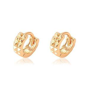 Arracadas Huggies Oro 18k Lam Mini Punk