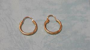 Arracadas Oro De 1.4 Cm Con Estuche Y Envio Gratis