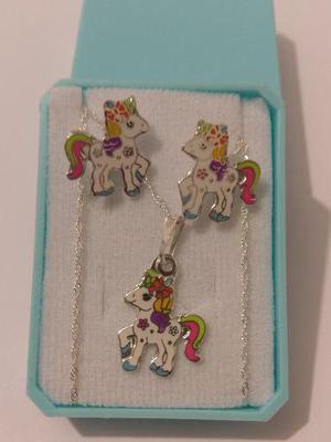 Dije De Pony Colors Con Aretes De Plata Envio Gratis