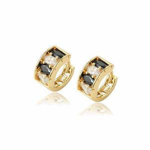 Elegantes Arracadas De Oro Lam Zirconias Calidad Diamante