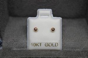 Envió Gratis ! Broquel Arete Oro 10k Dormilona Oro Rosa 2mm