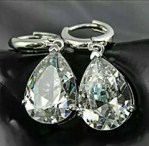 Exquisitos Aretes Real Cristal Swarovski Corte Diamant Mujer