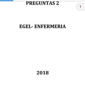 GUIA EXAMEN EGEL CENEVAL  LICENCIATURA ENFERMERÍA