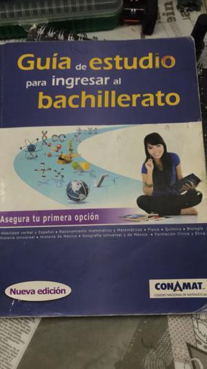 Guía de estudio para el bachillerato Conamat