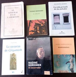 Paquete de seis libros