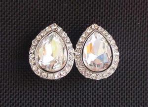 Preciosos Aretes De Novia Cristales Y Rodio Joyeria Novias