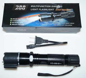 10 Lamparas Tactica Police Electroshock Y Laser Recargable