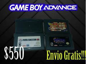 4 Juegos Gameboy Advance !!!!envio Gratis!!!!
