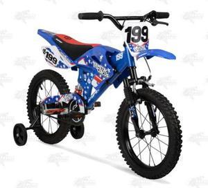 Bicicleta Hyper 16 Nitro Circus Motociclo Azul Niño Xtreme