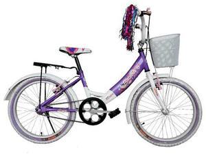 Bicicleta Infantil Equipada Bravia Rodada 20 Para Niña