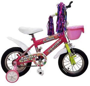 Bicicleta Infantil Niña Rodada 12 Con Llantas Inflables