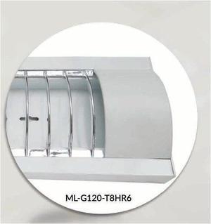 Gabinete Blanco Con Reja Y Focos Led 36w Incluidos T8 Bst802