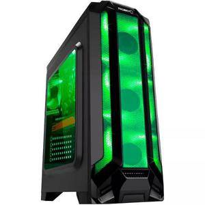 Gabinete Eagle Warrior Gamer Robot Q Atx Matx Verde