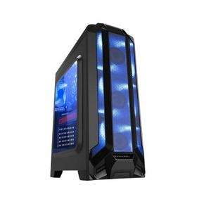 Gabinete Gamer Eagle Warrior Robot Q Led Azul S/fuente Atx