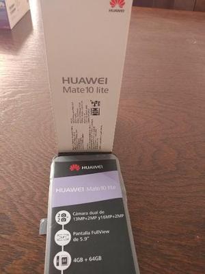 Huawei Mate 10 Lite +4gb Ram +64gb Color Negro Caja Completo