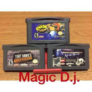 Juegos 3 Game Boy Advance Crash Wolverine Tony Hawk¿s