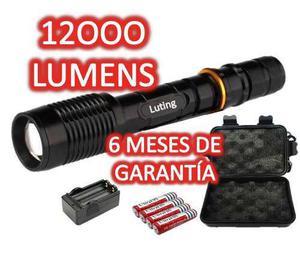 Lampara Tactica 12000lms Cree Led T6 Xlm 6 Meses Garantia