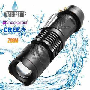 Lampara Tactica 2000 Lumens Ultra Cree Led Recargable Q5 Alu